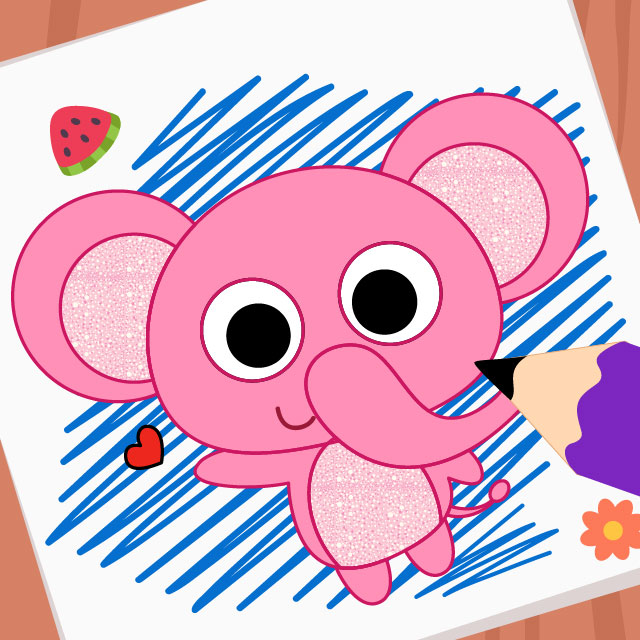 Fuchsia Coloring Page For Kids: Purple Pink Coloring Book-Kids Painting Game